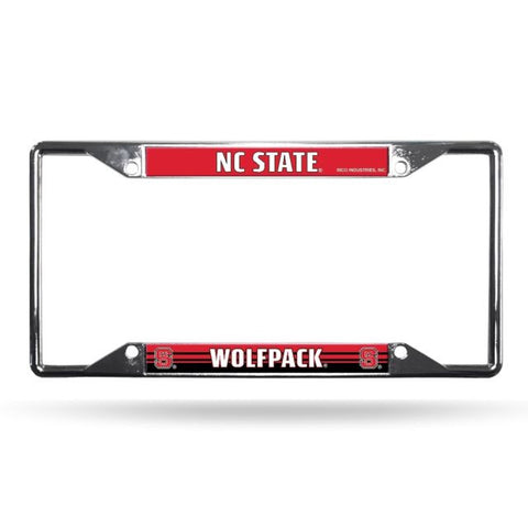 NC State Wolfpack Red EZ Chrome License Plate