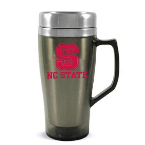 NC State Wolfpack 16oz Smoke Metro Stainless Steel Travel Tumbler