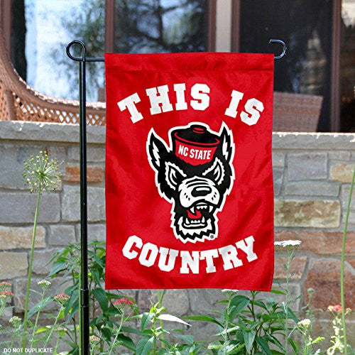 NC State Woflpack 13x18 This Is Wolfpack Country Garden Flag
