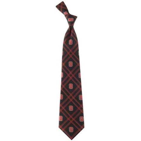 NC State Wolfpack Checked Woven Poly Tie