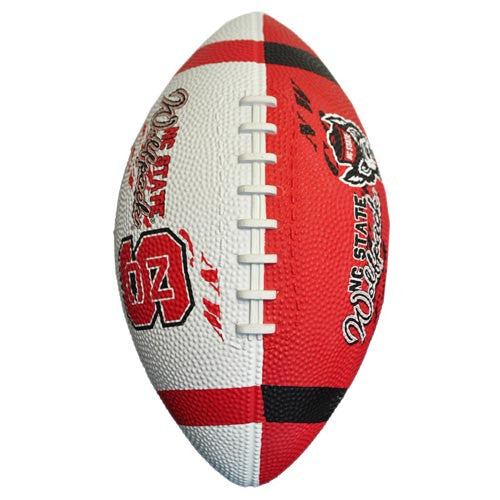 NC State Wolfpack Red & White Junior Rubber Football