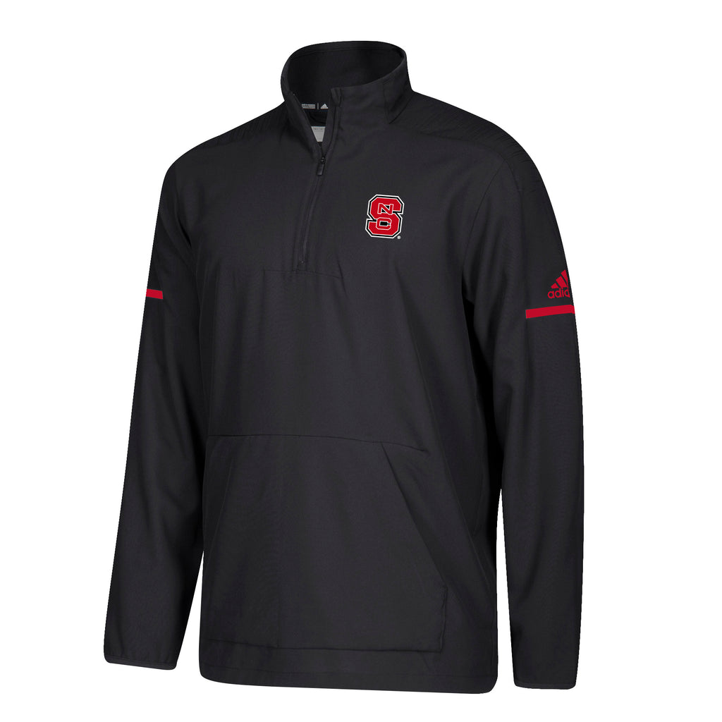 NC State Wolfpack Adidas Black 2018 Sideline Coaches 1 4 Zip Woven Lon –  Red and White Shop a87b5e641