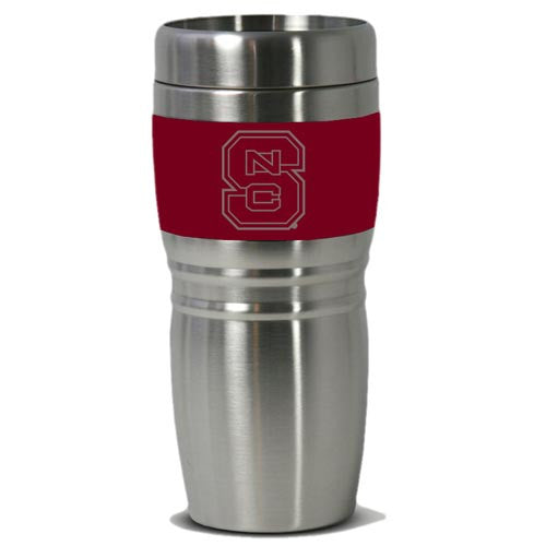 NC State Wolfpack Red 16oz Steel City Travel Tumbler