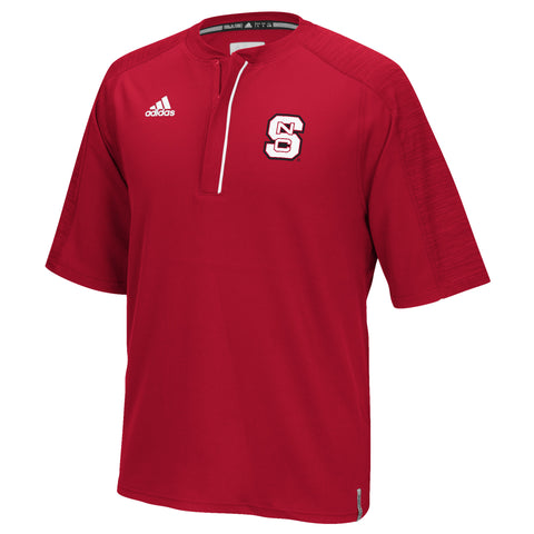 NC State Wolfpack Adidas 2016 Red Sideline 1/4 Zip S/S Jacket