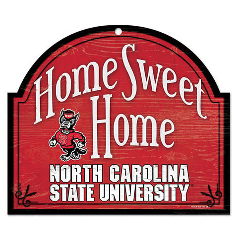 NC State Wolfpack Home Sweet Home Sign