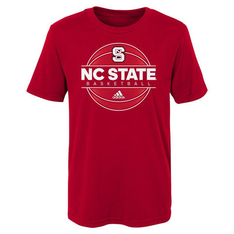 NC State Wolfpack Adidas Toddler Red On Court Basketball T-Shirt