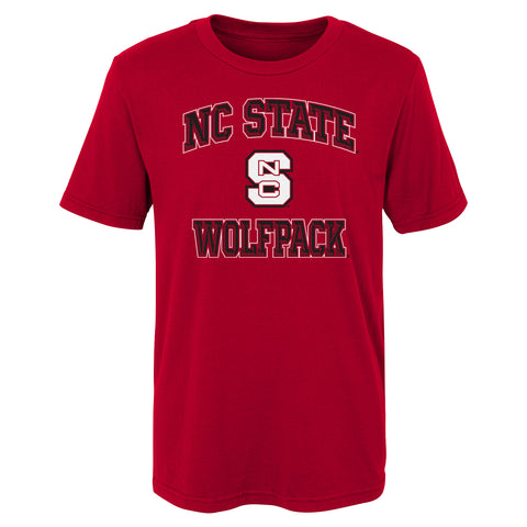 NC State Wolfpack Youth Red Game Time T-Shirt