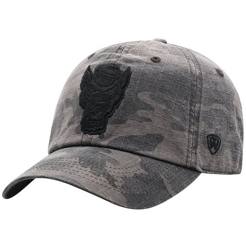NC State Wolfpack TOW Camo Knight Wolfhead Adjustable Hat