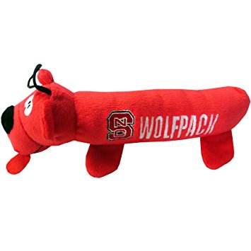 NC State Wolfpack Red Tube Dog Toy
