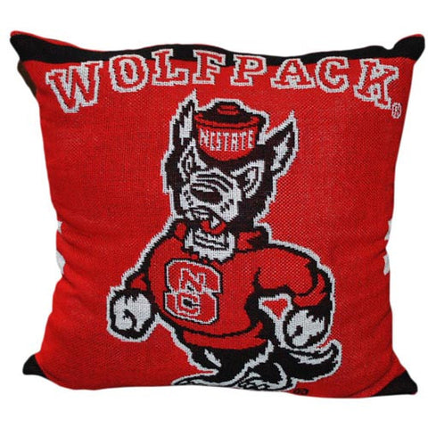"NC State Wolfpack 20"" Jacquard Strutting Wolf Pillow"