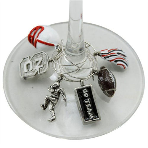 NC State Wolfpack Wine Glass Charms