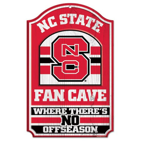 NC State Wolfpack 11x17 Wood Fan Cave Sign