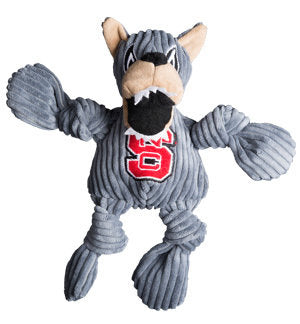 NC State Wolfpack Plush Knottie Mr Wuf Dog Toy