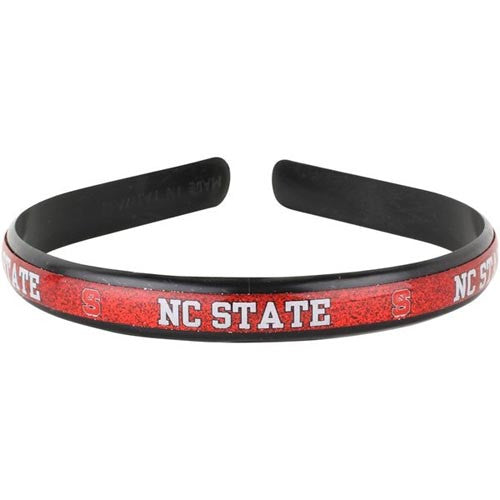NC State Wolfpack Plastic Domed Graphic Headband