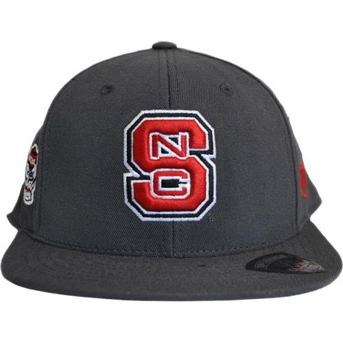 NC State Wolfpack TOW® Asphalt Charcoal One Fit Flat Bill Hat