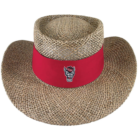 NC State Wolfpack Tournament Wolfhead Straw Hat