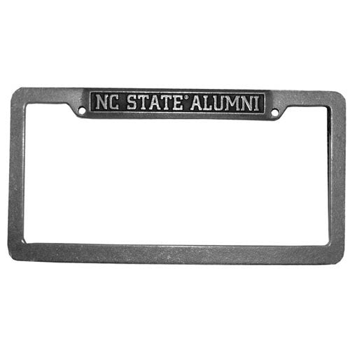 NC State Wolfpack Metal Top Alumni License Plate Frame – Red and ...