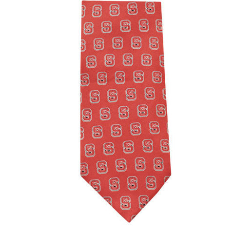 NC State Wolfpack Red Silk Tie