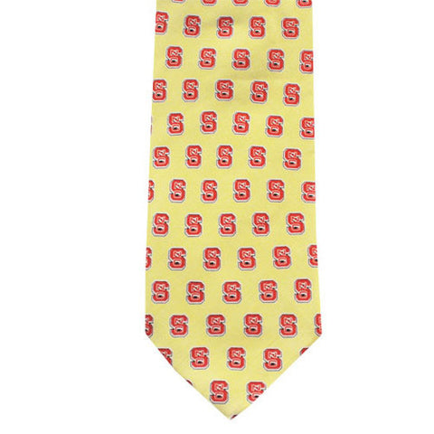NC State Wolfpack Yellow Silk Tie