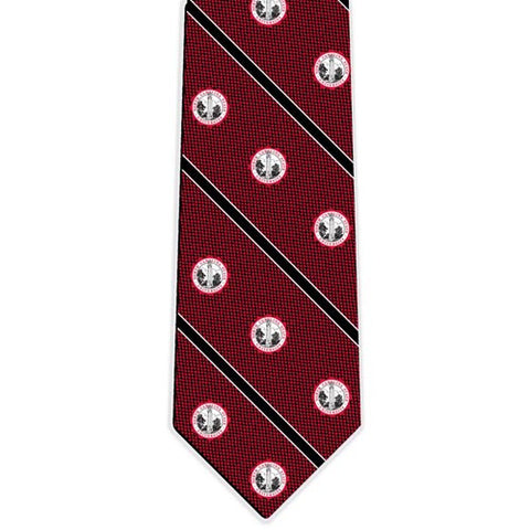 NC State Wolfpack Red Silk Woven Nailhead Seal Tie