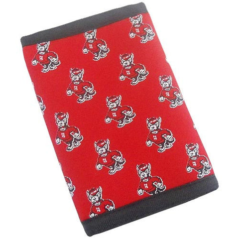 NC State Wolfpack Trifold Surfer's Wallet w/ Silk Logo Insert