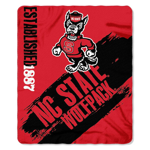 NC State Wolfpack Red 50x60 Fleece Throw