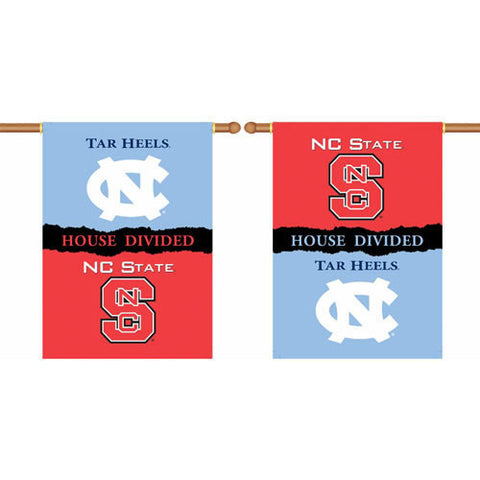"NC State Wolfpack - UNC House Divided Two-Sided 28"" x 40"" Banner"