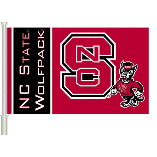 NC State Wolfpack Car Flag