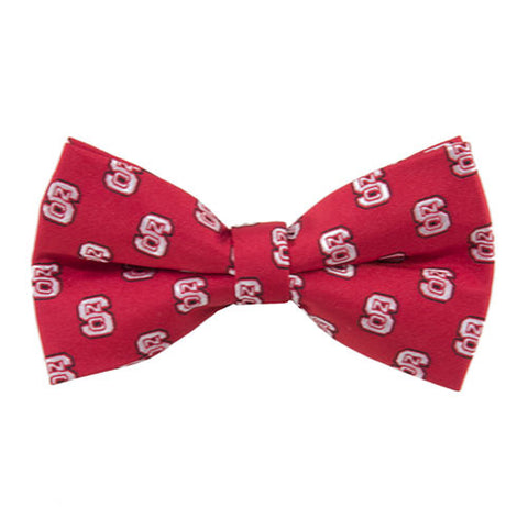 NC State Wolfpack Red Repeat Logo Pre Tied Bow Tie