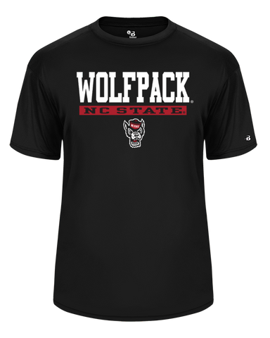 NC State Wolfpack Youth Black Ultimate Performance Wolfhead T-Shirt