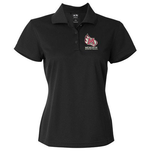 Meredith College Women's Black adidas Golf ClimaLite® Basic Short-Sleeve Polo