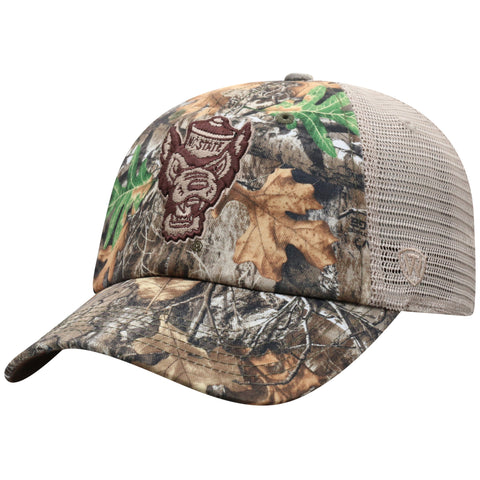 NC State Wolfpack TOW Camo Acorn Wolfhead Adjustable Hat