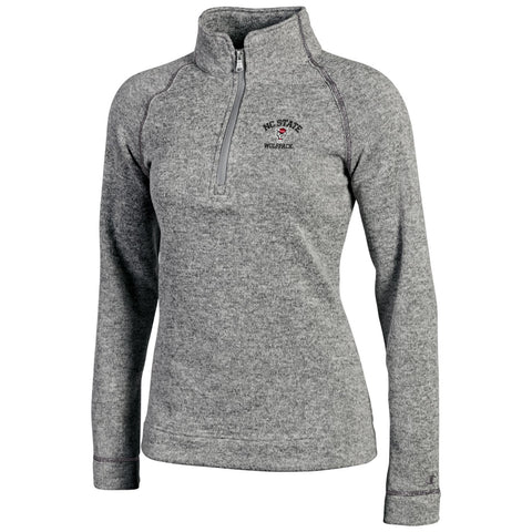 North Carolina State Wolfpack Women's Heathered Grey Artic 1/4 Zip Jacket