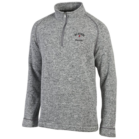 NC State Wolfpack Men's Heathered Grey Artic 1/4 Zip Jacket