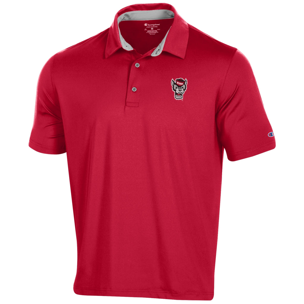 NC State Wolfpack Champion Red Wolfhead Golf Polo