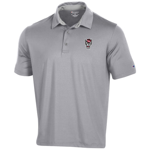 NC State Wolfpack Champion Grey Wolfhead Golf Polo