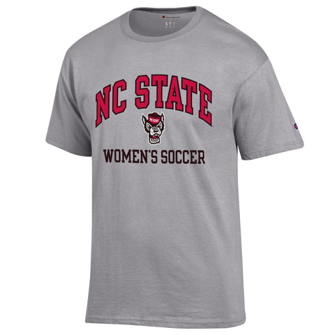 NC State Wolfpack Champion Grey Wolfhead Women's Soccer T-Shirt