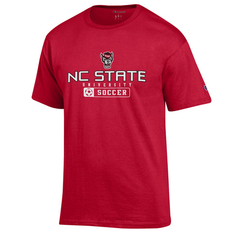 NC State Wolfpack Champion Red Wolfhead Soccer T-Shirt