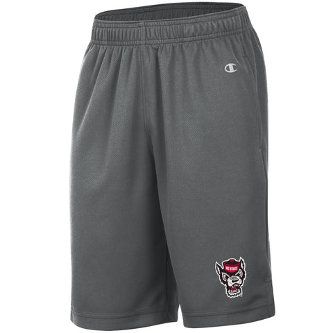 NC State Wolfpack Champion Youth Titanium Wolfhead Mesh Shorts