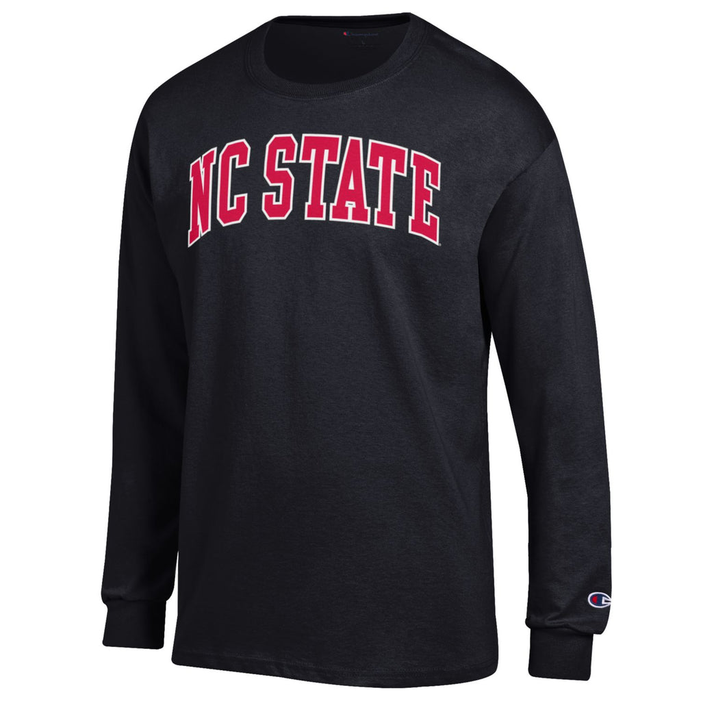 NC State Wolfpack Champion Black Arch Long Sleeve T-Shirt