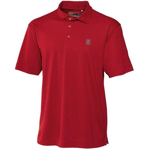NC State Wolfpack Red Cutter & Buck® Big & Tall Genre Polo