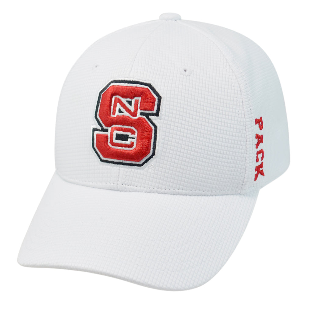 2a0e10549ed038 NC State Wolfpack TOW White Booster Plus One Size Hat – Red and White Shop