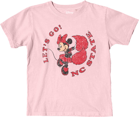NC State Wolfpack Youth Pink Disney Vintage Minnie T-Shirt