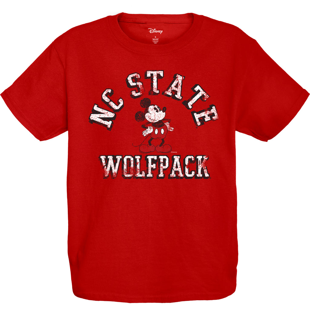 NC State Wolfpack Red Disney Vintage Mickey T-Shirt