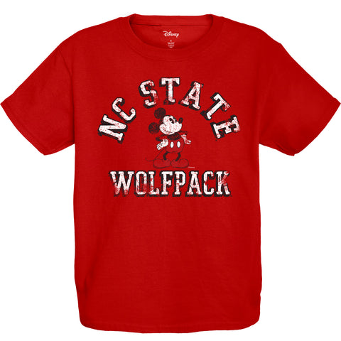 NC State Wolfpack Youth Red Disney Vintage Mickey T-Shirt