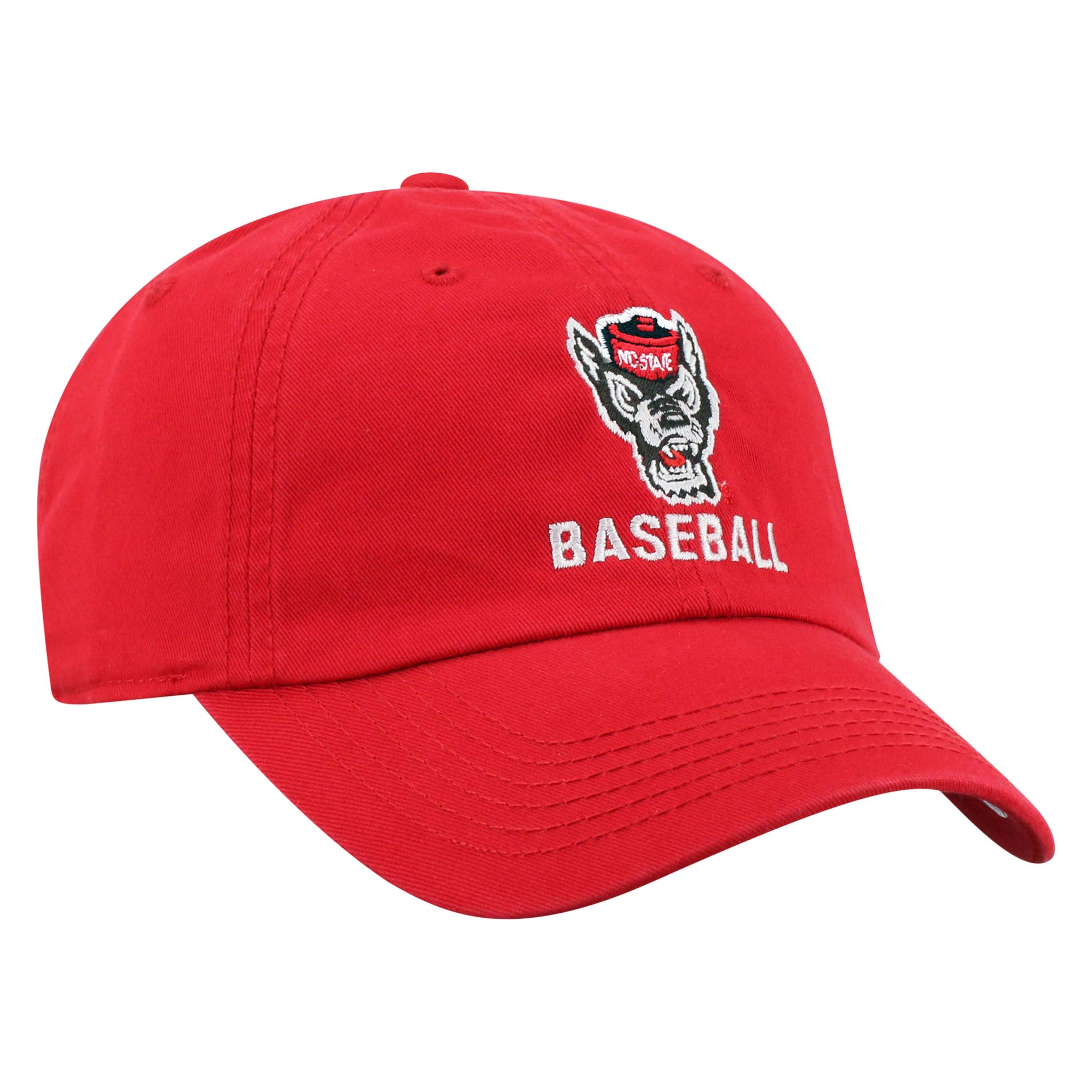 NC State Wolfpack TOW Red Wolfhead Baseball Adjustable Hat