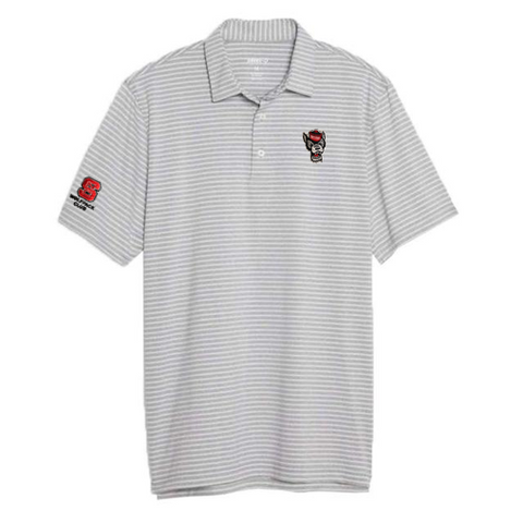 North Carolina State Wolfpack Johnnie-O Grey Barrett Wolfpack Club Polo