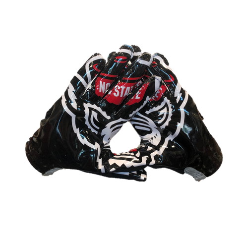 NC State Wolfpack Adidas Black Adizero 5-Star 7.0 Wolfhead Receiver Gloves
