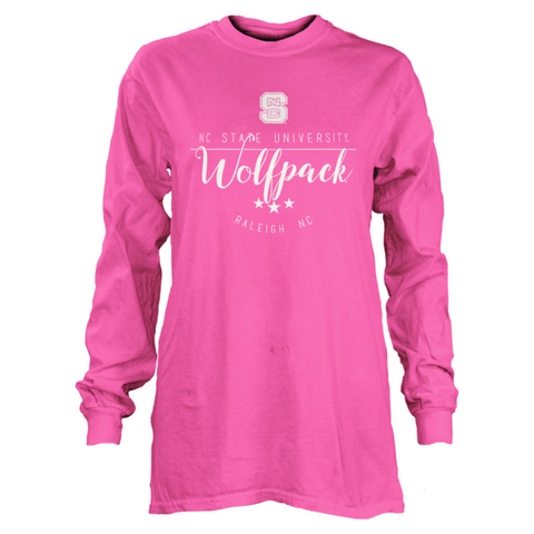 NC State Wolfpack Women's Pink Finley Long Sleeve T-Shirt