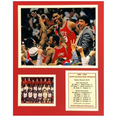 NC State Wolfpack 11x14 1983 National Championship Team Matted Print